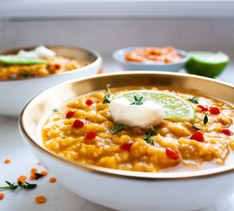 Live and Love Nutrition Spicy Pumpkin Lentil Soup Recipe