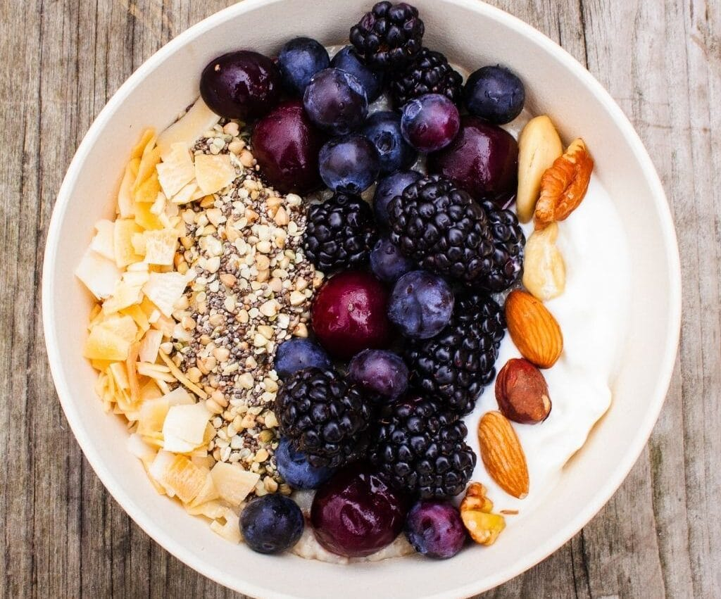Triple Berry Oat and Nut Bowl